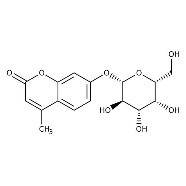4-Methylumbelliferyl-β-D-galactopyranoside, ACROS Organics™ 5g; Glass bottle 4-Methylumbelliferyl-β-D-galactopyranoside, ACROS Organics™