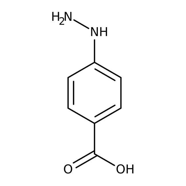 4-Hydrazinobenzoic acid, 98%, ACROS Organics™ 5g; Glass bottle 4-Hydrazinobenzoic acid, 98%, ACROS Organics™