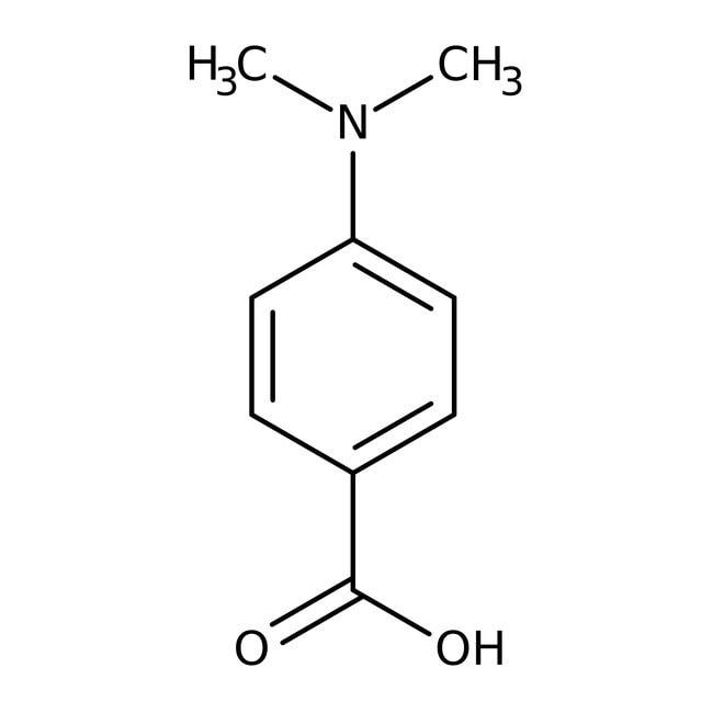 4-Dimethylaminobenzoic acid, 98%, ACROS Organics™ 25g; Plastic bottle 4-Dimethylaminobenzoic acid, 98%, ACROS Organics™