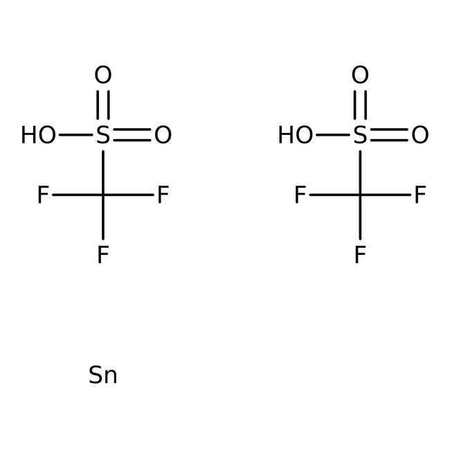 Tin(II) trifluoromethanesulfonate, 98%, ACROS Organics™ 5g; Plastic bottle Tin(II) trifluoromethanesulfonate, 98%, ACROS Organics™