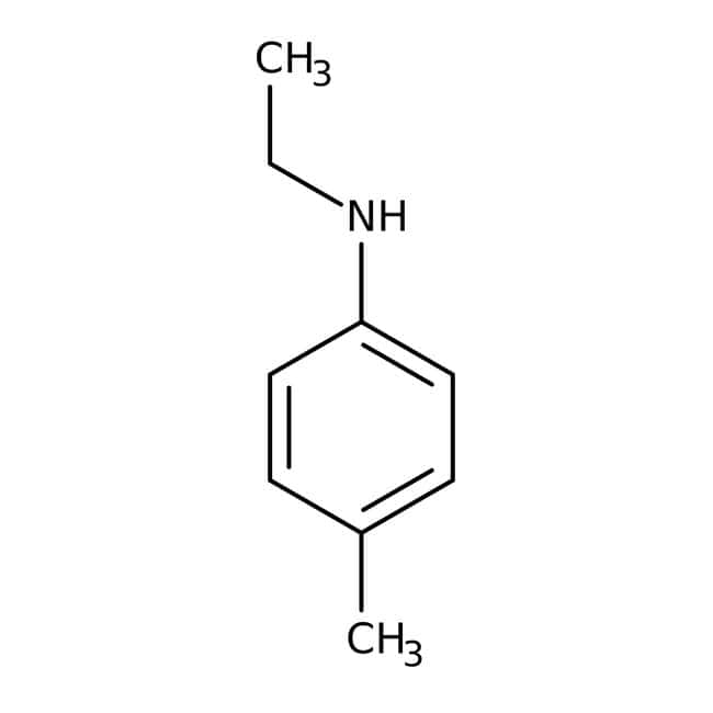 N-Ethyl-p-toluidine, 97%, ACROS Organics™ 100g, Glass bottle N-Ethyl-p-toluidine, 97%, ACROS Organics™