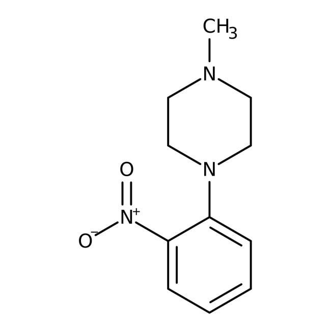 Alfa Aesar™1-Methyl-4-(2-nitrophenyl)piperazine, 97% 1g Alfa Aesar™1-Methyl-4-(2-nitrophenyl)piperazine, 97%