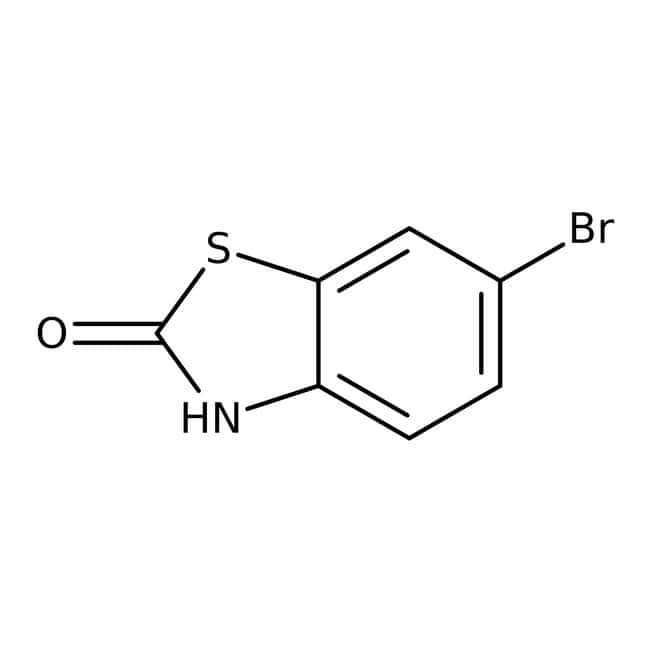 6-Bromo-2-benzotiazolinona, 98%, ACROS Organics™ 1g; frasco de vidrio 6-Bromo-2-benzotiazolinona, 98%, ACROS Organics™