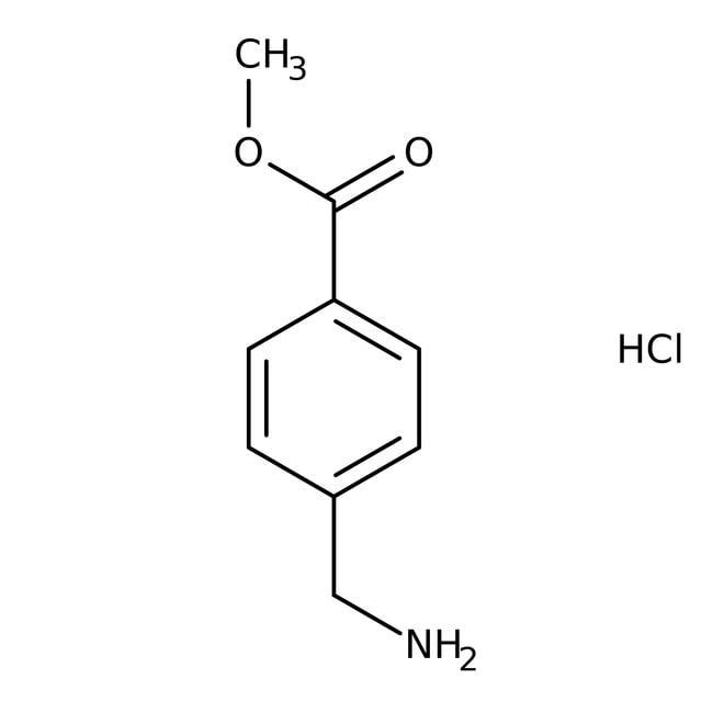 Methyl 4-(aminomethyl)benzoate hydrochloride, 97%, ACROS Organics™ Glass bottle; 25g Methyl 4-(aminomethyl)benzoate hydrochloride, 97%, ACROS Organics™