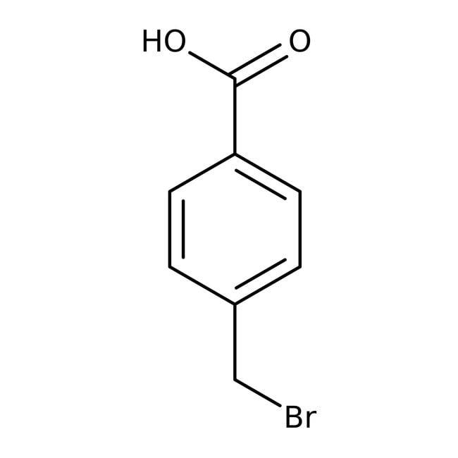 Acide α-bromo-p-toluique, 97%, ACROS Organics™ 250g; flacon en verre Acide α-bromo-p-toluique, 97%, ACROS Organics™
