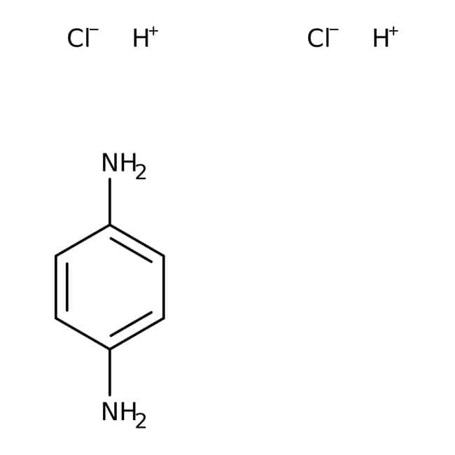 p-Phenylenediamine dihydrochloride, 99+%, Acros Organics 100g; Glass bottle p-Phenylenediamine dihydrochloride, 99+%, Acros Organics