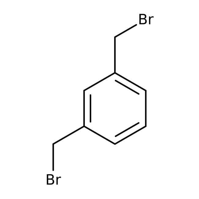 alpha,alpha'-Dibromo-m-xylene, 97%, ACROS Organics™ Glass bottle; 5g alpha,alpha'-Dibromo-m-xylene, 97%, ACROS Organics™