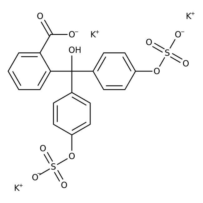 Phenolphthalein Disulfate, Tripotassium Salt Trihydrate, 98%, ACROS Organics™ 10g; Glass bottle Phenolphthalein Disulfate, Tripotassium Salt Trihydrate, 98%, ACROS Organics™