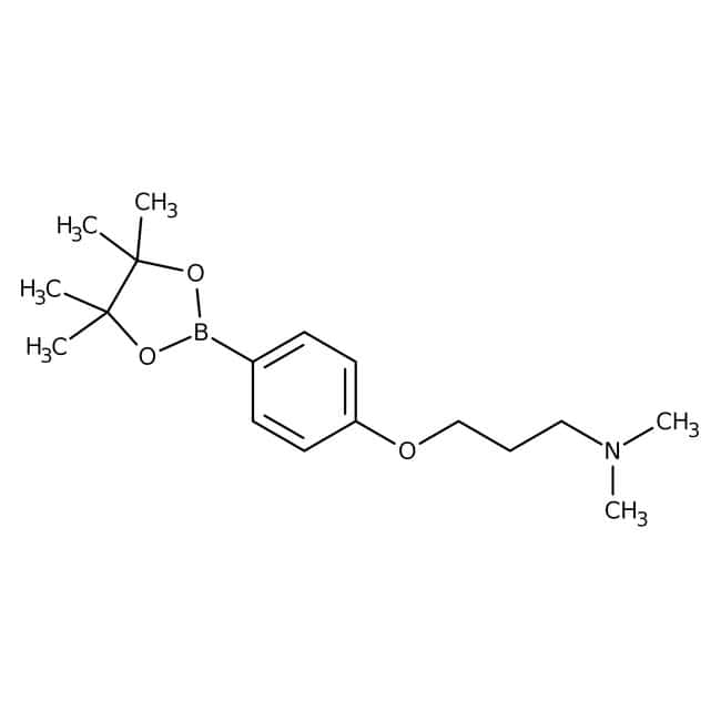 2-{4-[3-(Dimethylamino)propoxy]phenyl}-4,4,5,5-tetramethyl-1,3,2-dioxaborolane, 95%, Maybridge™