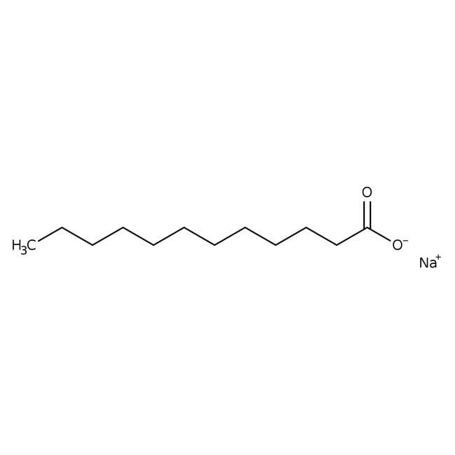 Lauric acid, sodium salt, 98%, Acros Organics 100g; Glass bottle Lauric acid, sodium salt, 98%, Acros Organics