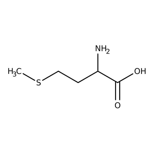 L-Methionine (White Crystals or Crystalline Powder), Fisher BioReagents Glass Bottle; 100g Amino Acids