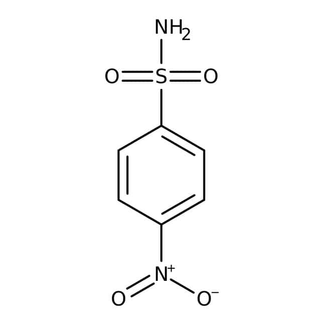 4-Nitrobenzenesulfonamide, 97%, ACROS Organics™ 5g; Glass bottle 4-Nitrobenzenesulfonamide, 97%, ACROS Organics™