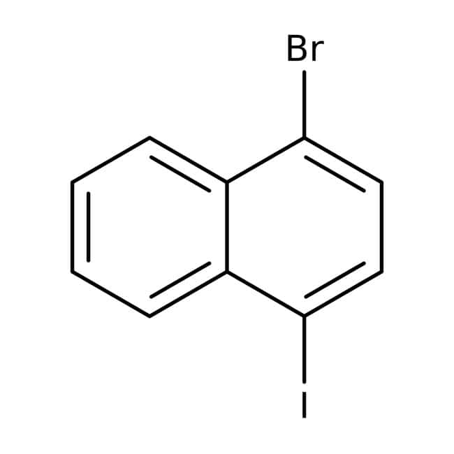 Alfa Aesar™1-Bromo-4-iodonaphthalene, 98% 5g Alfa Aesar™1-Bromo-4-iodonaphthalene, 98%