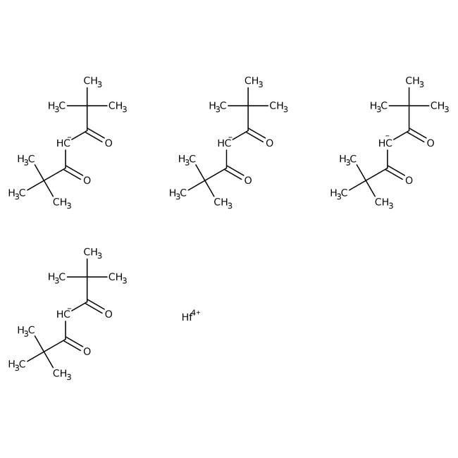 Alfa Aesar™Tetrakis(2,2,6,6-Tetramethyl-3,5-heptandionato)Hafnium(IV), 99.7% (Metallbasis) 1g Produkte