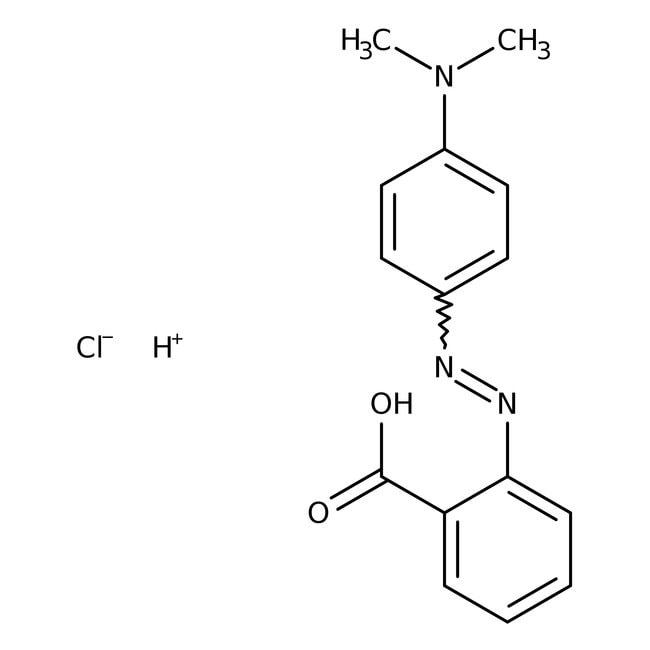 Methylrothydrochlorid, ACS-Reagenz, ACROS Organics™ 25 g-Glasflasche Methylrothydrochlorid, ACS-Reagenz, ACROS Organics™