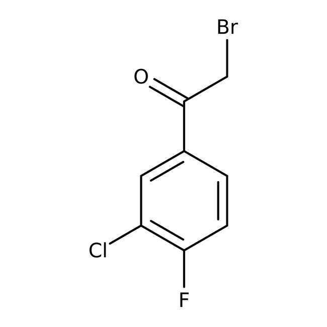Alfa Aesar™2-Brom-3'-Chlor-4'-Fluoroacetophenon, 96% 1g Alfa Aesar™2-Brom-3'-Chlor-4'-Fluoroacetophenon, 96%