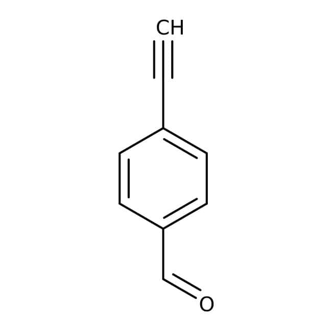 4-Ethynylbenzaldehyde, 95%, ACROS Organics™ 1g; Glass bottle 4-Ethynylbenzaldehyde, 95%, ACROS Organics™