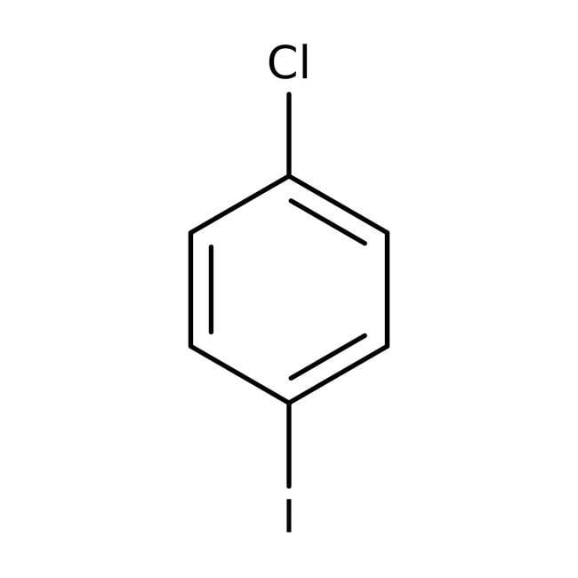 1-Chloro-4-iodobenzene, 99%, Acros Organics 100g; Glass bottle 1-Chloro-4-iodobenzene, 99%, Acros Organics