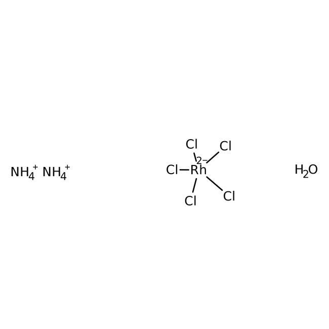 Alfa Aesar  Ammonium aquopentachlororhodate(III), Rh 30% min