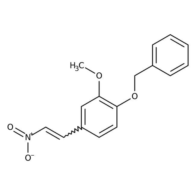 Alfa Aesar™4-Benciloxi-3-metoxi-beta-nitroestireno, 99% 1g Alfa Aesar™4-Benciloxi-3-metoxi-beta-nitroestireno, 99%