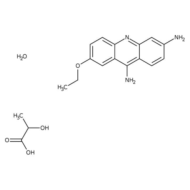 6,9-Diamino-2-ethoxyacridine lactate monohydrate, 95%, ACROS Organics™: Benzoquinolines Quinolines and derivatives