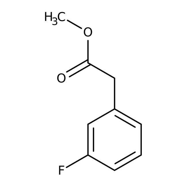 Methyl 3-fluorophenylacetate, 98%, ACROS Organics™ 5g; Glass bottle Methyl 3-fluorophenylacetate, 98%, ACROS Organics™