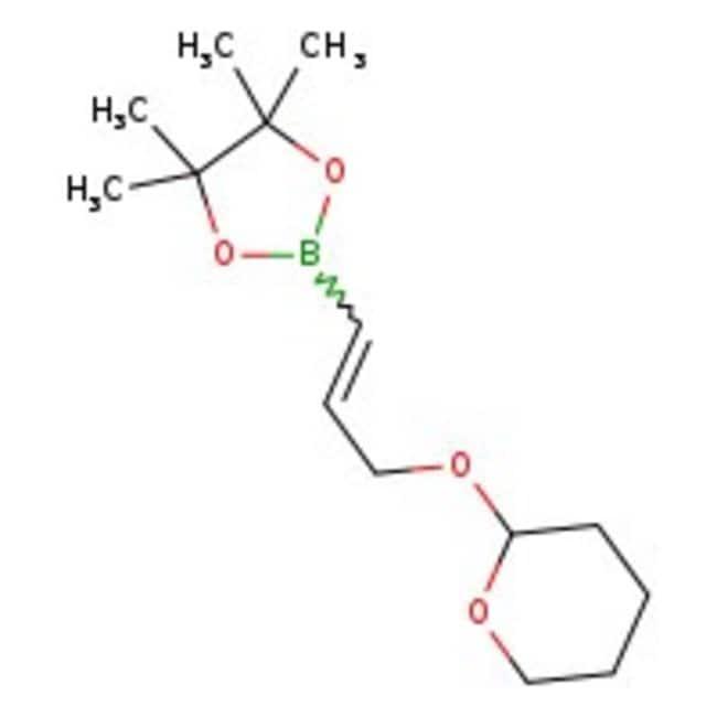 3-(Tetrahydropyran-2-yloxy)prop-1-en-1-ylboronic acid pinacol ester, 90%, ACROS Organics™ 1g; Glass bottle prodotti trovati