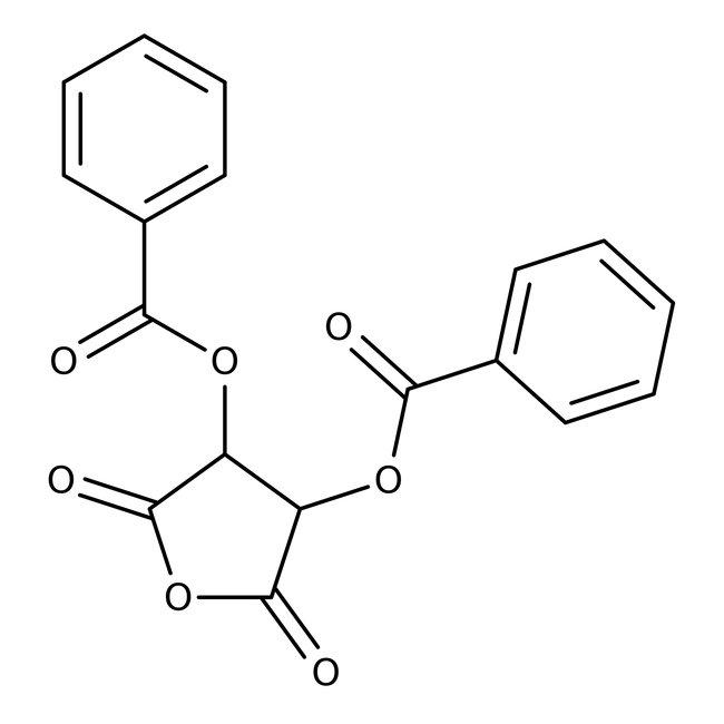 (+)-Dibenzoyl-L-tartaric anhydride, 98%, ACROS Organics™ 25g; Plastic bottle (+)-Dibenzoyl-L-tartaric anhydride, 98%, ACROS Organics™