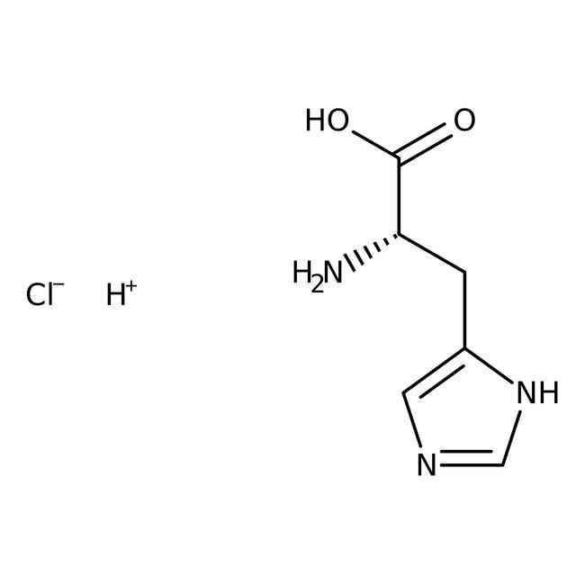 DL-Histidine hydrochloride, monohydrate, 98%, ACROS Organics™ 100g; Glass bottle DL-Histidine hydrochloride, monohydrate, 98%, ACROS Organics™
