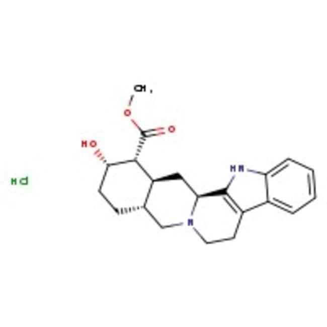 Yohimbine hydrochloride, 99%, ACROS Organics™ 25g; Glass bottle Yohimbine hydrochloride, 99%, ACROS Organics™