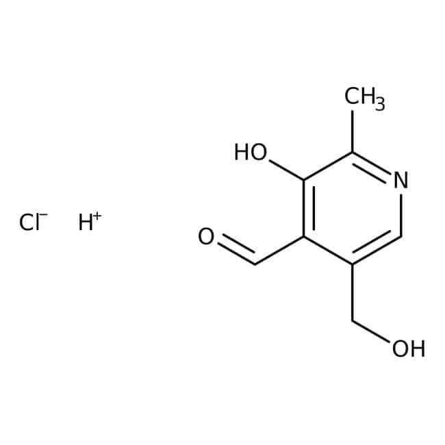 Pyridoxalhydrochlorid, 99%, ACROS Organics™ 100 g-Glasflasche Pyridoxalhydrochlorid, 99%, ACROS Organics™