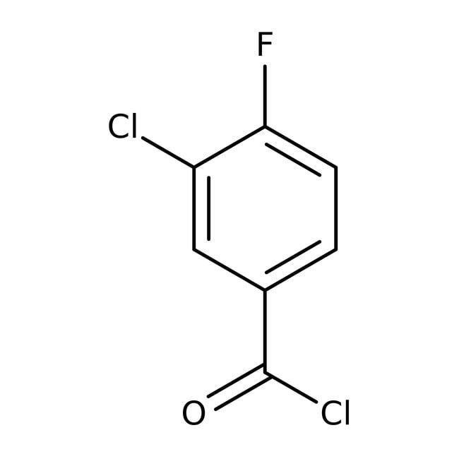 Alfa Aesar™3-Chloro-4-fluorobenzoyl chloride, 97%: Halobenzoic acids and derivatives Benzoic acids and derivatives