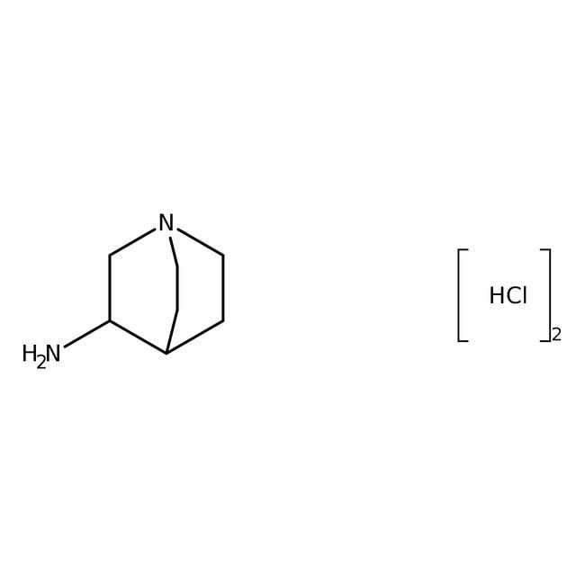 3-Aminoquinuclidine dihydrochloride, 98%, ACROS Organics™ 5g; Glass bottle 3-Aminoquinuclidine dihydrochloride, 98%, ACROS Organics™