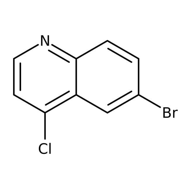 Alfa Aesar™6-Bromo-4-chloroquinoline, 96%