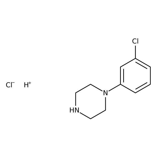 Alfa Aesar™1-(3-Chlorphenyl)piperazinhydrochlorid, 97% 5g Alfa Aesar™1-(3-Chlorphenyl)piperazinhydrochlorid, 97%