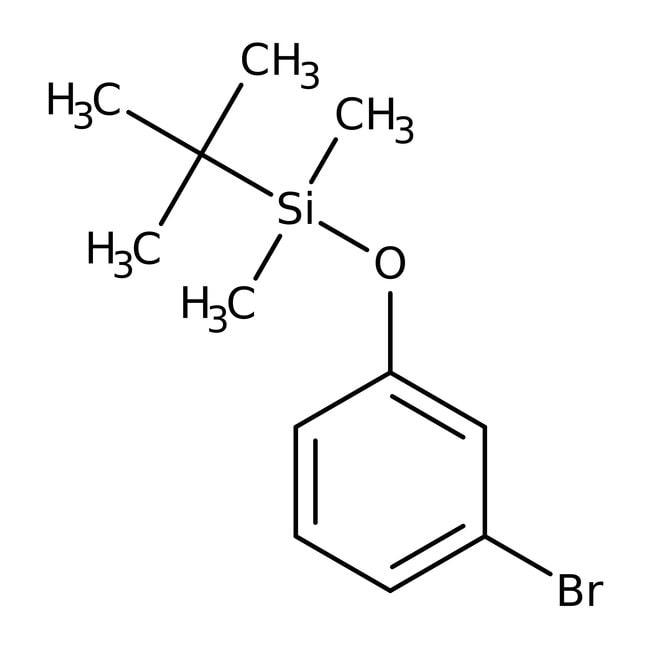 Alfa Aesar™1-Bromo-3-(tert-butyldimethylsiloxy)benzene, 98+%: Other Inorganic Compounds Chemicals