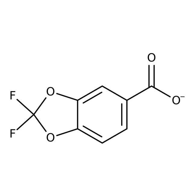 2,2-Difluor-1,3-benzodioxol-5-carbonsäure, 97%, Acros Organics 1g, Glasflasche 2,2-Difluor-1,3-benzodioxol-5-carbonsäure, 97%, Acros Organics