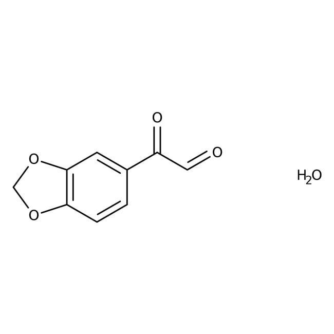 Alfa Aesar™3,4-(Methylenedioxy)phenylglyoxal hydrate, 97%, dry wt basis 5g Alfa Aesar™3,4-(Methylenedioxy)phenylglyoxal hydrate, 97%, dry wt basis