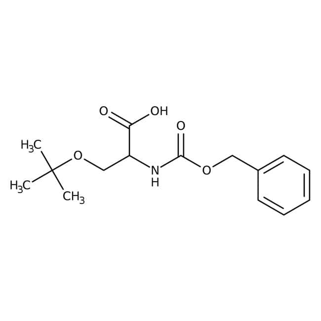 Alfa Aesar™Nalpha-Benzyloxycarbonyl-O-tert-butyl-D-serine, 98% 1g Alfa Aesar™Nalpha-Benzyloxycarbonyl-O-tert-butyl-D-serine, 98%