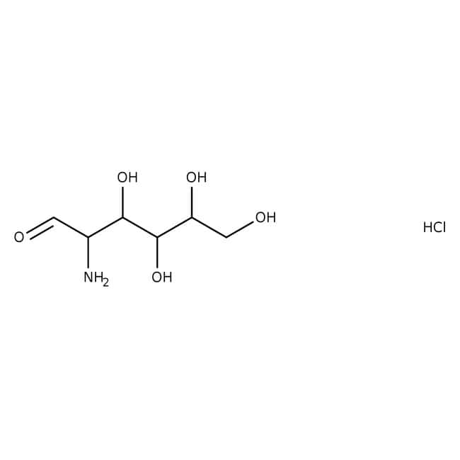 Chlorhydrate de D-glucosamine, 98+%, ACROS Organics™ 2,5kg; flacon en plastique Chlorhydrate de D-glucosamine, 98+%, ACROS Organics™