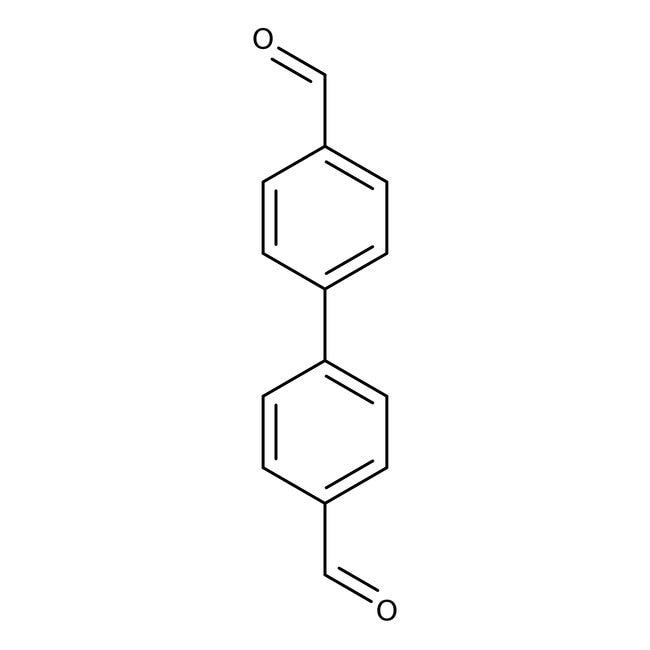 4,4'-Biphenyldicarboxaldehyde, 97%, ACROS Organics™ 5g; Glass bottle 4,4'-Biphenyldicarboxaldehyde, 97%, ACROS Organics™