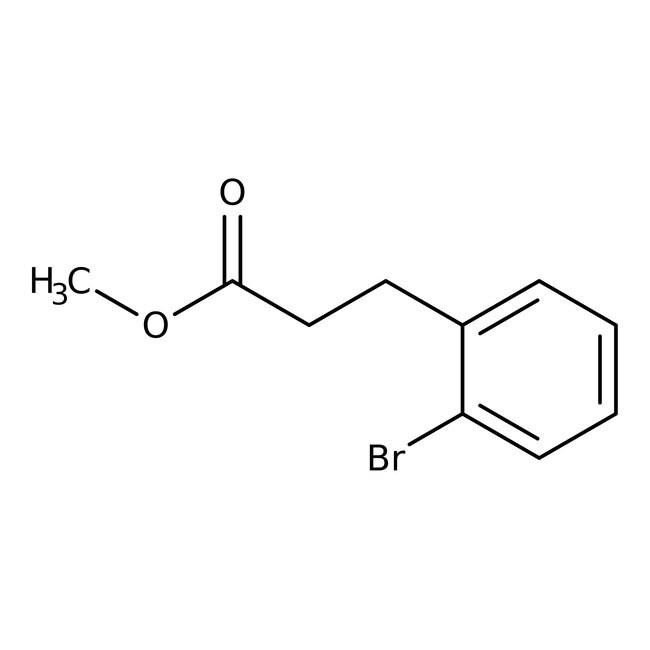 Alfa Aesar™Methyl 3-(2-bromophenyl)propionate, 98% 25g Alfa Aesar™Methyl 3-(2-bromophenyl)propionate, 98%
