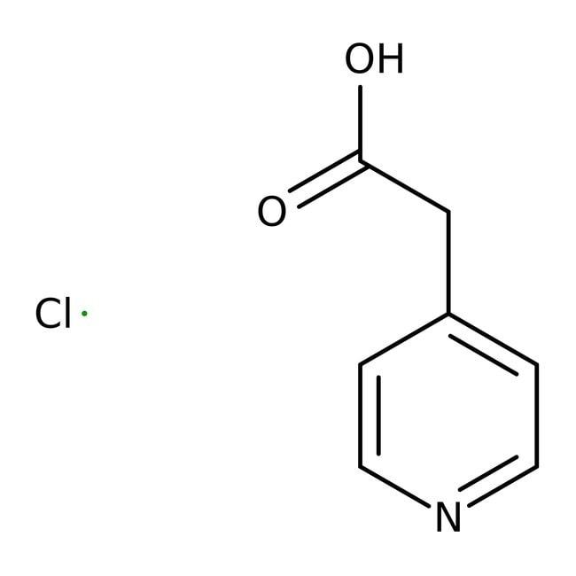 4-Pyridylacetic Acid Hydrochloride, 98%, ACROS Organics™ 1g; Glass bottle 4-Pyridylacetic Acid Hydrochloride, 98%, ACROS Organics™