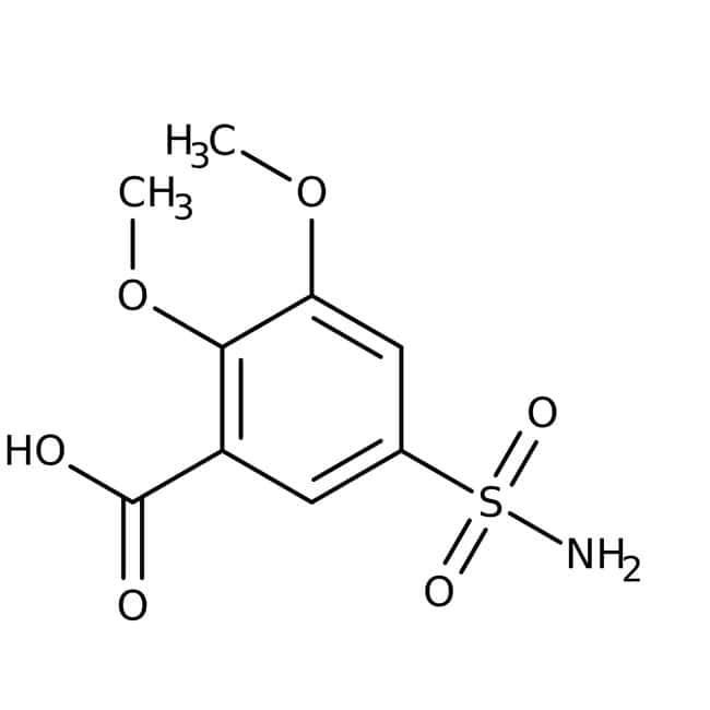 5-(Aminosulfonyl)-2,3-dimethoxybenzoic Acid 98.0 %, TCI America