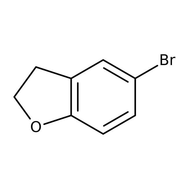 5-Brom-2,3-Dihydro-1-Benzofuran, 97%, Maybridge Braunglasflasche, 10g 5-Brom-2,3-Dihydro-1-Benzofuran, 97%, Maybridge