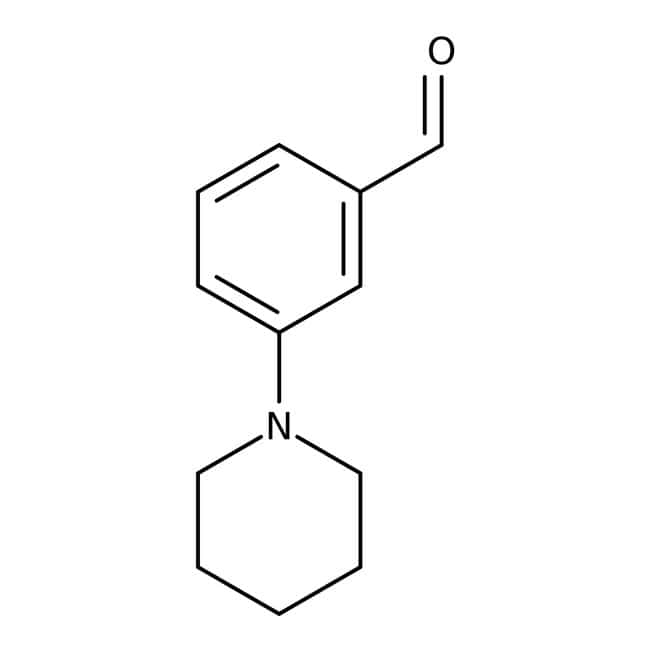 3-Piperidinobenzaldehyde, 95%, Maybridge™ Amber Glass Bottle; 250mg 3-Piperidinobenzaldehyde, 95%, Maybridge™