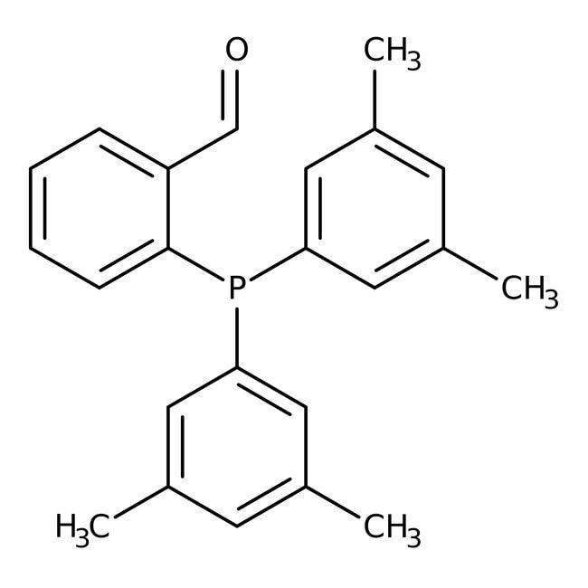 2-[Bis(3,5-dimethylphenyl)phosphino]benzaldehyde, 97%, Alfa Aesar™ 100mg 2-[Bis(3,5-dimethylphenyl)phosphino]benzaldehyde, 97%, Alfa Aesar™