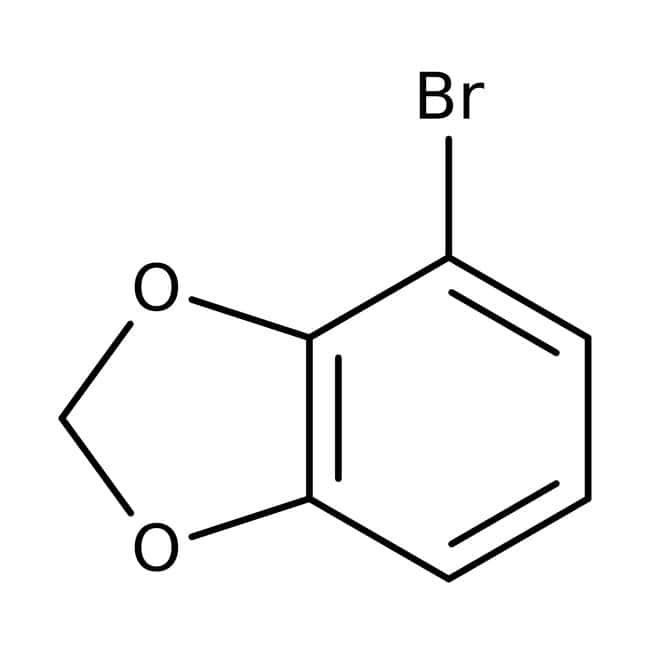 4-Bromo-1,3-benzodioxole, 97%, Maybridge™ Amber Glass Bottle; 1g 4-Bromo-1,3-benzodioxole, 97%, Maybridge™