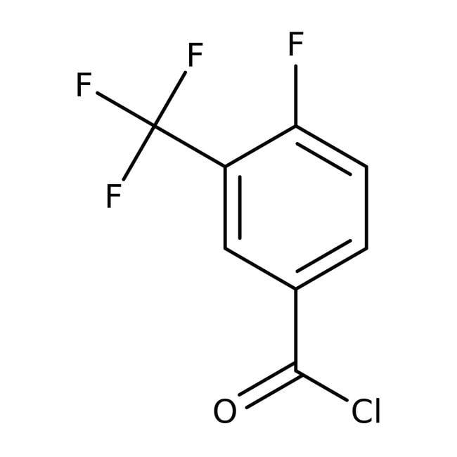 4-Fluoro-3-(trifluoromethyl)benzoyl chloride, 97%, ACROS Organics