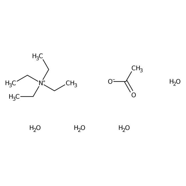 Tetraethylammonium acetate tetrahydrate, 97+%, ACROS Organics™ 500g; Glass bottle Tetraethylammonium acetate tetrahydrate, 97+%, ACROS Organics™